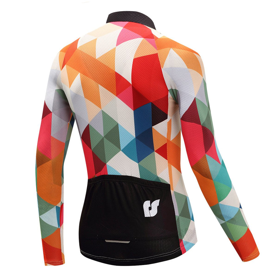 TrendyCycling Men's XS / White Jewel - Men's Long Sleeve Jersey