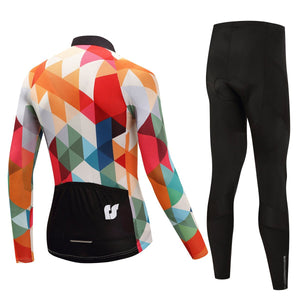 TrendyCycling Men's Jewel - Men's Thermal Jersey Set