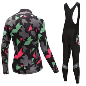 TrendyCycling Men's Maillot - Men's Thermal Jersey Set