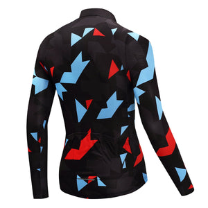 TrendyCycling Men's Onyx Jewel - Men's Long Sleeve Jersey Set