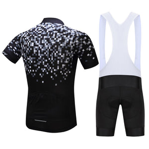 TrendyCycling Men's Pixel - Men's Short Sleeve Jersey Set