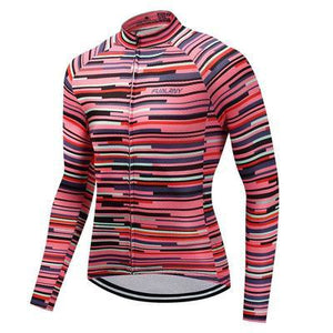 TrendyCycling Men's Rose Division - Men's Long Sleeve Jersey