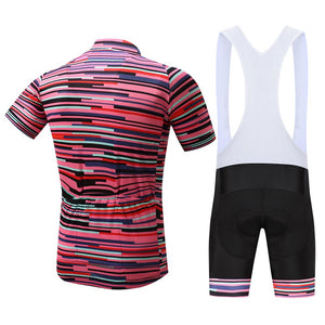 TrendyCycling Men's Rose Division - Men's Short Sleeve Jersey Set