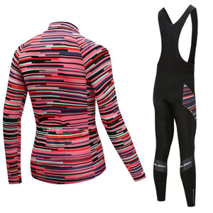 TrendyCycling Men's Rose Division - Men's Thermal Jersey Set