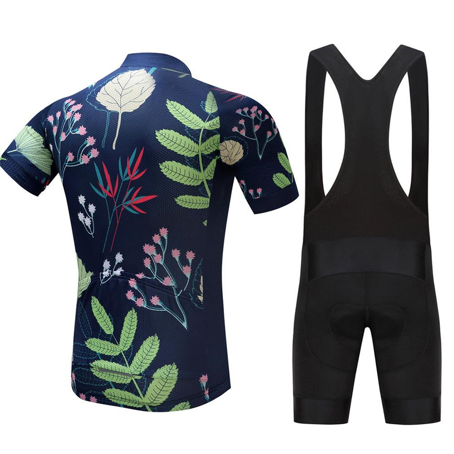 TrendyCycling Men's Jersey and black bib / S / Navy Seeding - Men's Short Sleeve Jersey Set