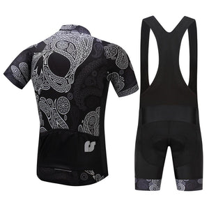 TrendyCycling Men's Skull - Men's Short Sleeve Jersey Set