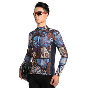 TrendyCycling Men's Vintage - Men's Long Sleeve Jersey