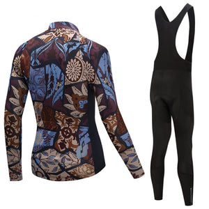 TrendyCycling Men's Vintage - Men's Long Sleeve Jersey Set