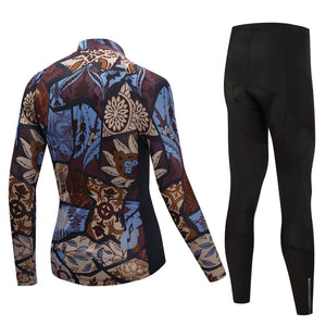 TrendyCycling Men's Vintage - Men's Thermal Jersey Set