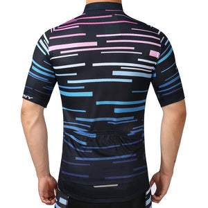 TrendyCycling Men's Violet Strip - Men's Short Sleeve Jersey