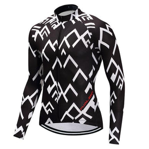 TrendyCycling Men's XS / Black Peak - Men's Long Sleeve Jersey