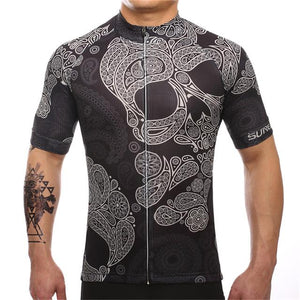 TrendyCycling Men's XS / Black Skull - Men's Short Sleeve Jersey