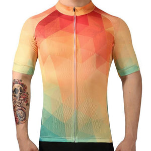 TrendyCycling Men's XS / Coral Summertime - Men's Short Sleeve Jersey