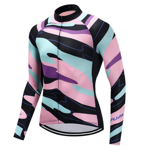 TrendyCycling Men's XS / LightPink Element - Men's Long Sleeve Jersey