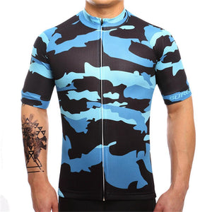 TrendyCycling Men's XS / RoyalBlue Veneer Camo - Men's Short Sleeve Jersey