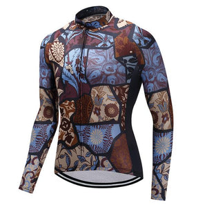 TrendyCycling Men's XS / SaddleBrown Vintage - Men's Long Sleeve Jersey