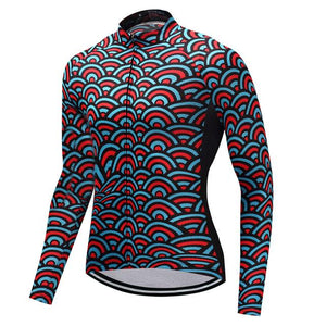 TrendyCycling Men's XS / SkyBlue Horizon - Men's Long Sleeve Jersey