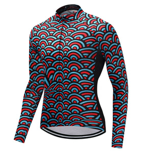 TrendyCycling Men's XS / SkyBlue Horizon - Men's Thermal Jersey