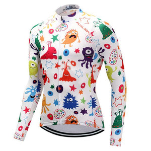 TrendyCycling Men's XS / White Anime - Men's Long Sleeve Jersey