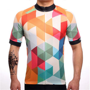 TrendyCycling Men's XS / White Jewel - Men's Short Sleeve Jersey