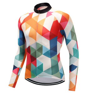 TrendyCycling Men's XS / White Jewel - Men's Thermal Jersey