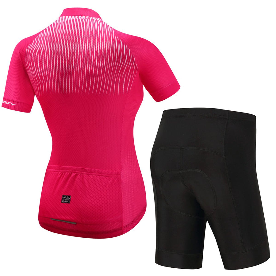 TrendyCycling Women's Jersey and pants / 3XL / Hot/Pink Adina - Women's Short Sleeve Jersey Set