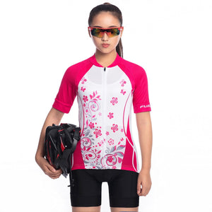 TrendyCycling Women's Blossom - Women's Short Sleeve Jersey Set