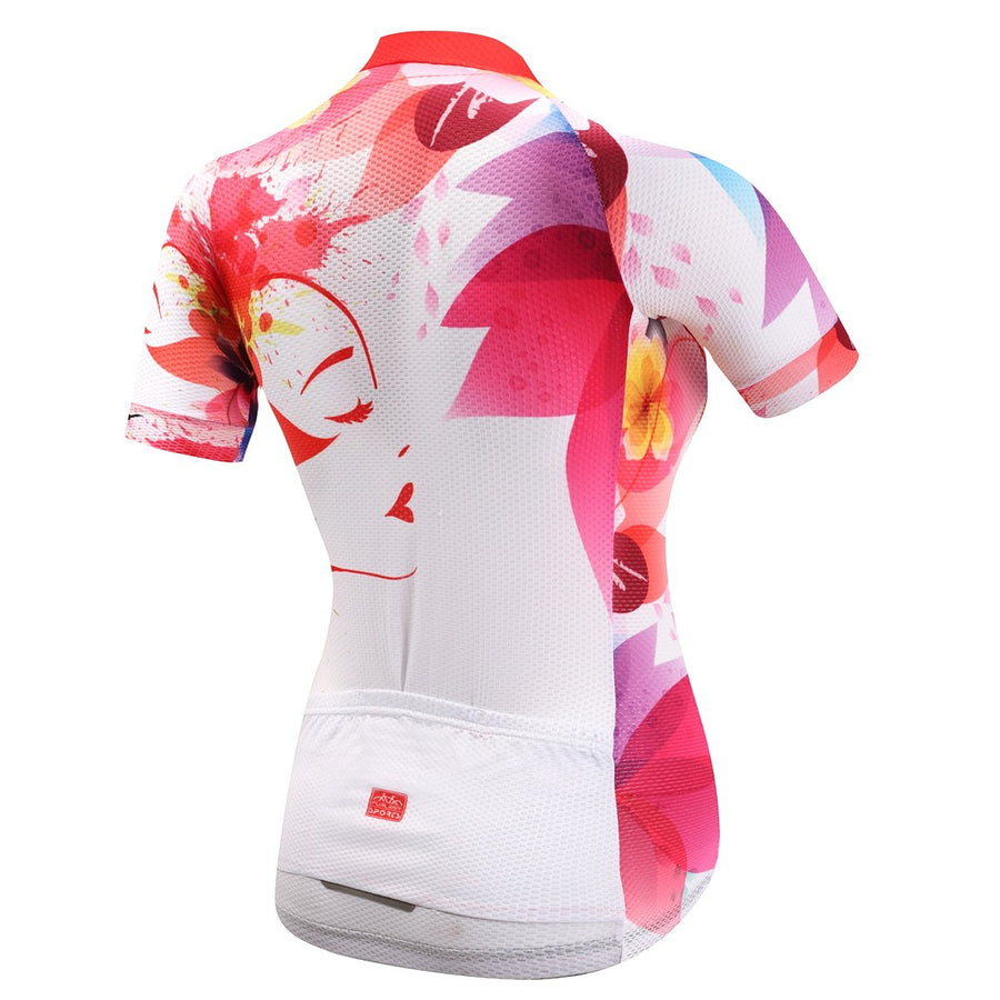 TrendyCycling Women's XS / Black Florescent Bloom - Women's Short Sleeve Jersey