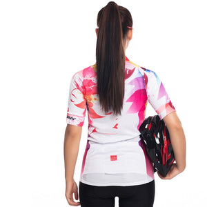 TrendyCycling Women's Florescent Bloom - Women's Short Sleeve Jersey
