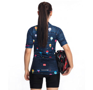 TrendyCycling Women's Hot Air Balloon - Women's Short Sleeve Jersey Set
