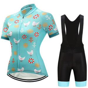 TrendyCycling Women's Jersey and black bib / 3XL / DarkTurquoise Dalila - Women's Short Sleeve Jersey Set