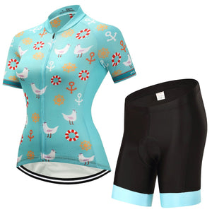 TrendyCycling Women's Jersey and pants / 3XL / DarkTurquoise Dalila - Women's Short Sleeve Jersey Set