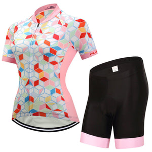 TrendyCycling Women's Jersey and pants / 3XL / LightPink Coral Gem - Women's Short Sleeve Jersey Set