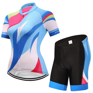 TrendyCycling Women's Jersey and pants / 3XL / SkyBlue Hedia - Women's Short Sleeve Jersey Set