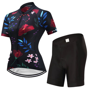 TrendyCycling Women's Jersey and pants / S / Navy Caitlin - Women's Short Sleeve Jersey Set
