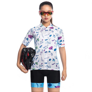TrendyCycling Women's Mayflower - Women's Short Sleeve Jersey Set
