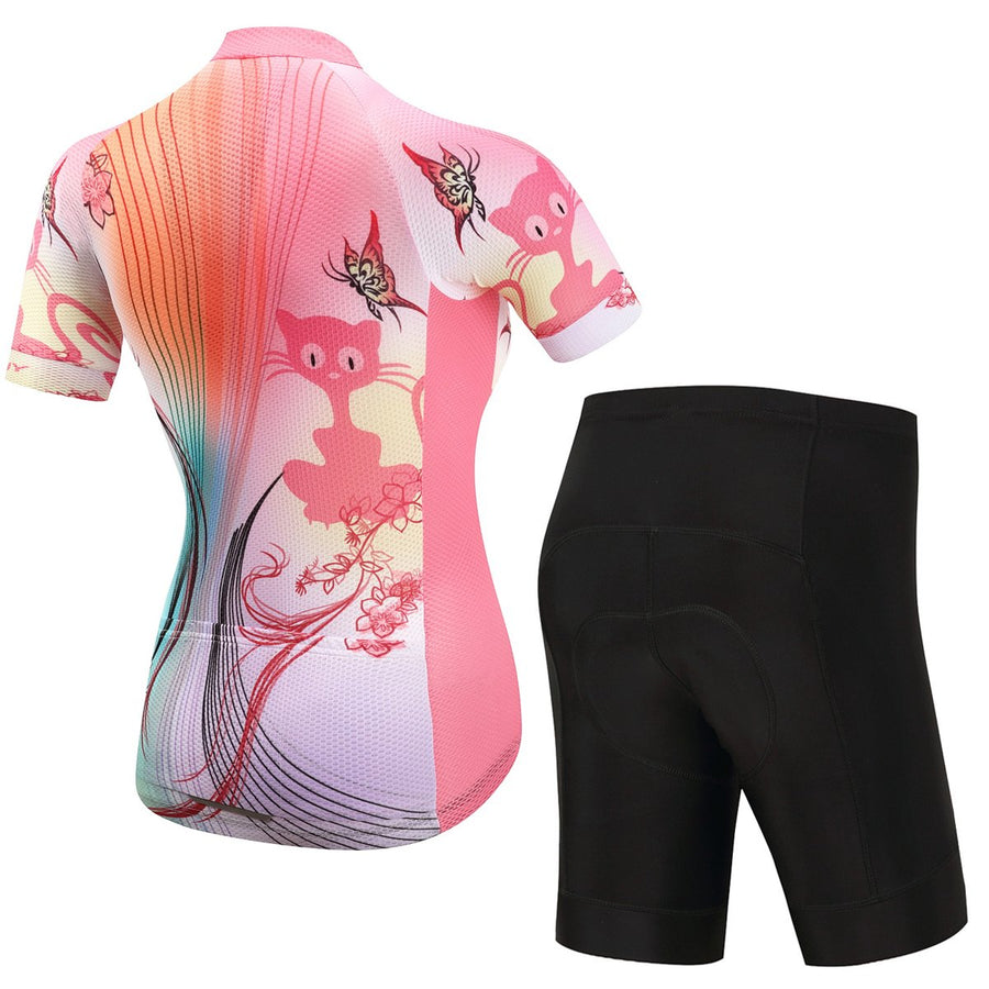 TrendyCycling Women's Jersey and pants / 3XL / Coral Queenie - Women's Short Sleeve Jersey Set