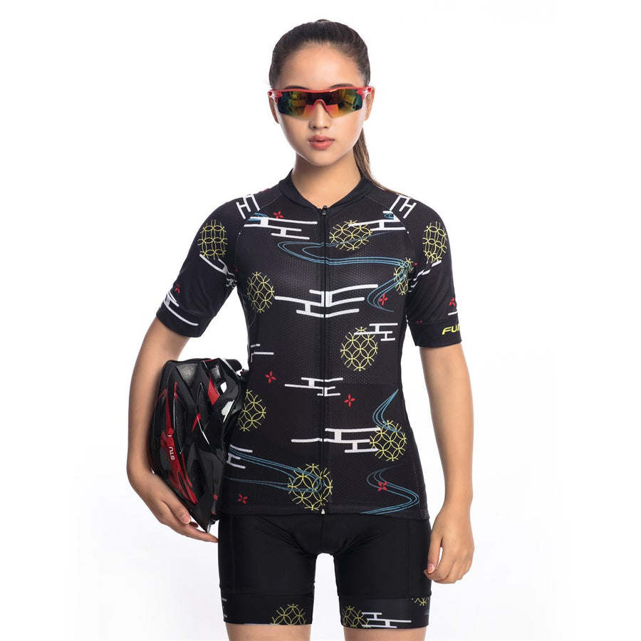 TrendyCycling Women's S / Black Wallis - Women's Short Sleeve Jersey