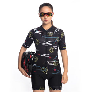 TrendyCycling Women's Wallis - Women's Short Sleeve Jersey Set