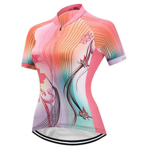TrendyCycling Women's XS / Coral Queenie - Women's Short Sleeve Jersey