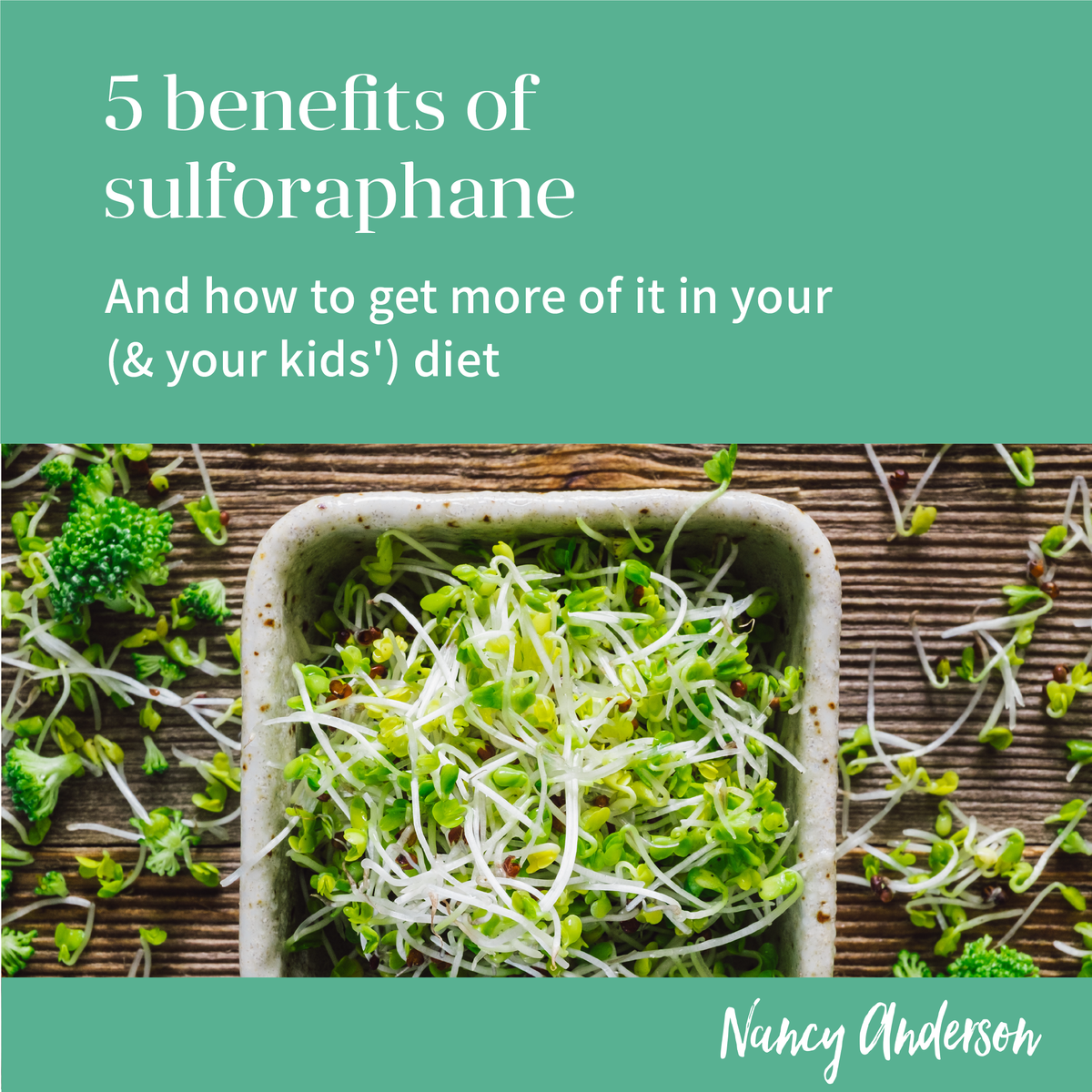 Get after those Sulforaphane gain