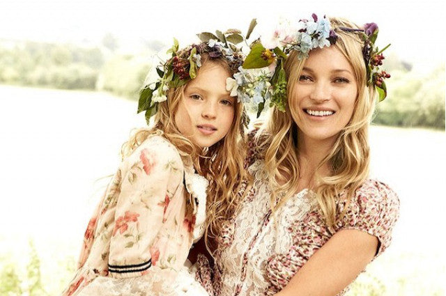 Celebrities Flower Crowns Kate Moss