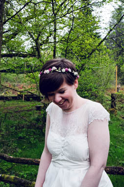 woodland wedding floral crown