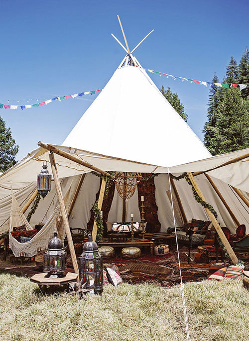 boho wedding tipi