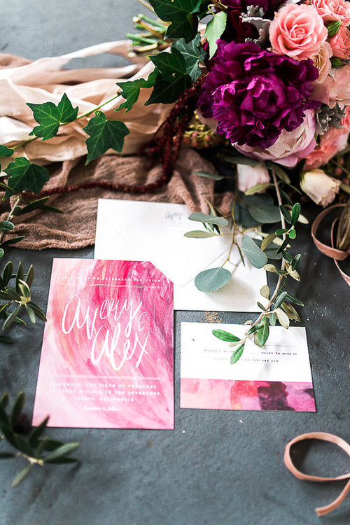 boho wedding stationery ideas
