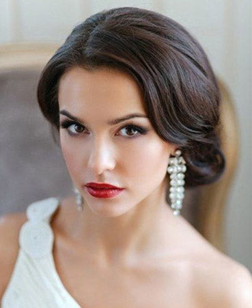 bridal make up ideas red lips