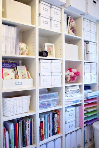creative office makeover storage
