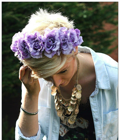 flower crown fashion blogger