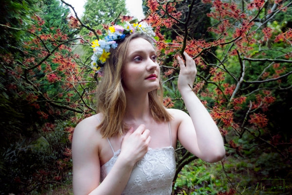 spring meadow flower crown