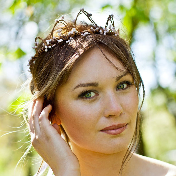 PRINCESS PIXIE Pink pip berry crown - Woodland Wedding